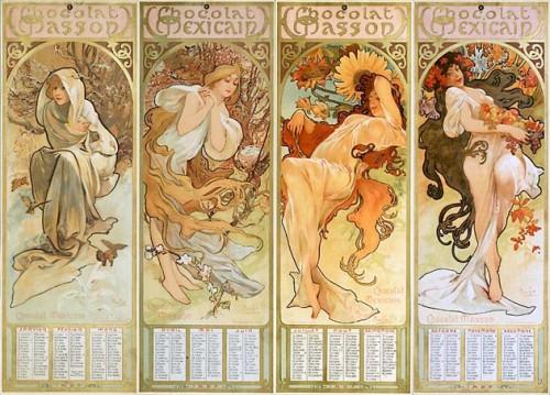 ミュシャ 1897年カレンダー