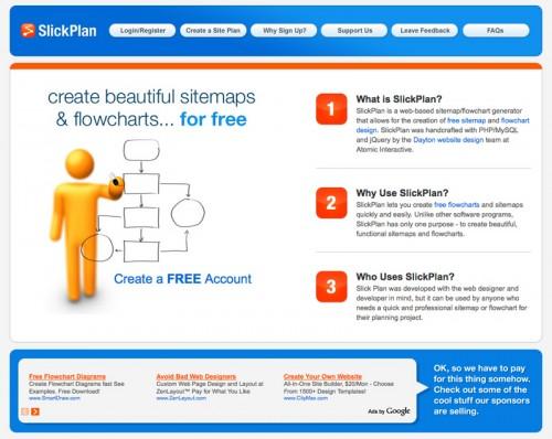 Webサイト用構成図作成ツール Slickplan