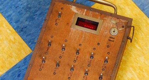 アンティークな電卓のデザイン