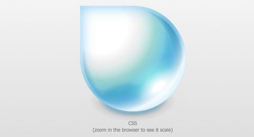CSSで描かれた水滴