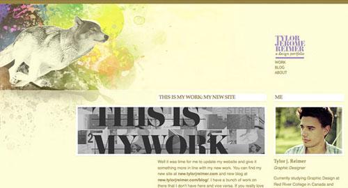 水彩画風Webサイト