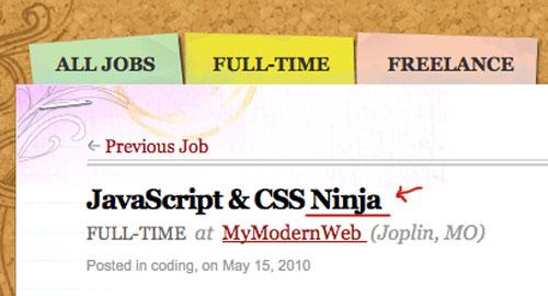 Web制作会社が忍者を募集中…JavaScriptとCSSのスキルが必要