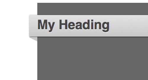 CSS: 画像を使用しないで、紙テープを折り返したようにするCSS