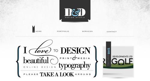 Webデザイン: タイポグラフィがとにかく美しく、きれいに整ったサイト