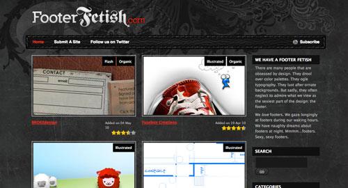 Webデザイン: 美しいフッターばかりを集めたデザインギャラリーサイト