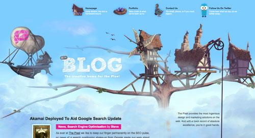 Webデザイン: 印象的なヘッダーデザインを用いたWebサイト