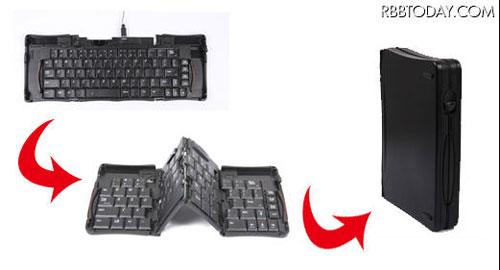コンパクトになる折りたたみ式フルキーボード