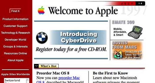 Webデザイン: 有名なあのWebサイトの最初のデザイン
