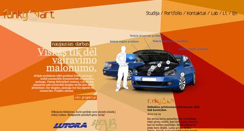 Webデザイン: 斬新なレイアウト・色使いが魅力的なリトアニアのWebデザイン