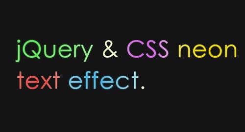 jQuery: グラデーションがネオンサインのようにアニメーション