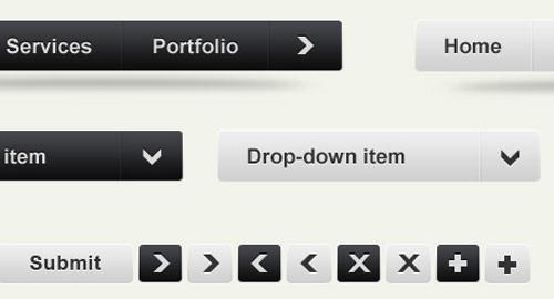 種類別、ウェブデザインのモックアップ用UIデザイン素材キット