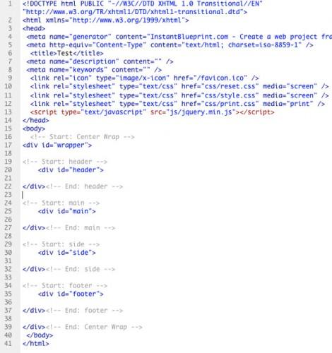 設定したDivを含んだコード