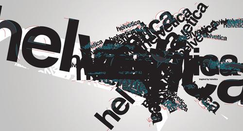 グラフィックデザイン: Helveticaを使ったフォントメインのポスター