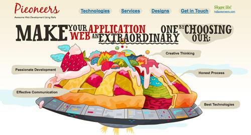 Webデザイン: イラストを使ったWebサイト