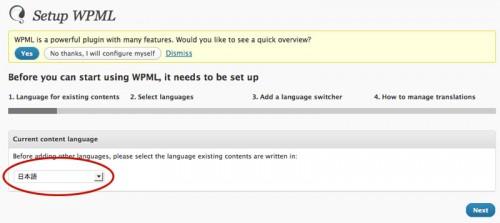 WPML言語設定