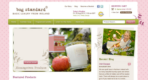 Webデザイン: 色とグランジ風フォントがとにかくかわいいECサイト