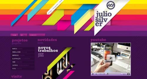 Webデザイン: 派手さが魅力のカラフルなWebサイト