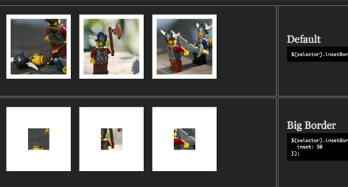 jQuery: 画像のまわりにボーダーをプラス。ジェネレーター付