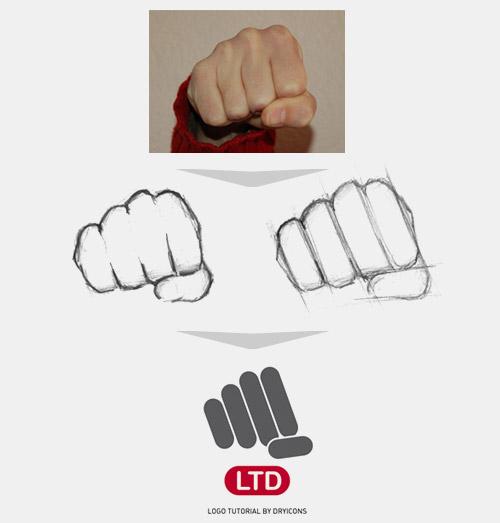 拳がモチーフのロゴ
