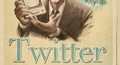 グラフィックデザイン: もしもTwitterが1960年代にあったら…