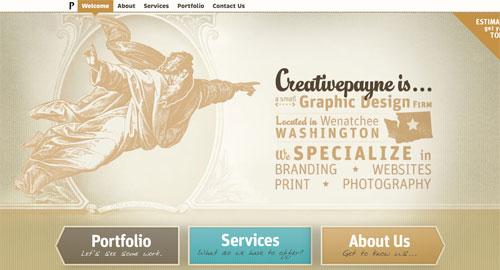 Webデザイン: デザイン会社のWebサイト