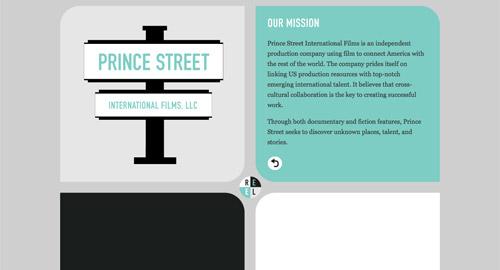 Webデザイン: 面白い構成のWebサイト