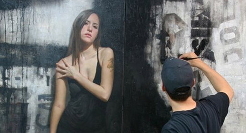 壁に描かれたリアルすぎるペイント