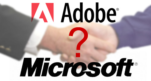 MicrosoftがAdobe買収の可能性
