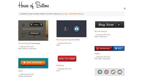 ボタンのデザインのみ集めたサイト【House of Buttons】