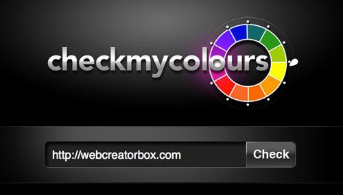 配色のチェックをしてくれるサイト、Check My Colours