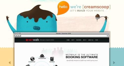 Webデザイン: ゆるーい感じのキャラと色使いがかわいいWebサイト