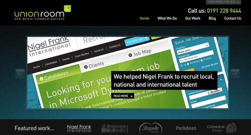Webデザイン: ダーク系カラーを利用したウェブサイトデザイン