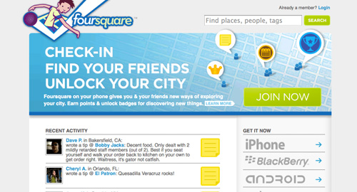 位置情報サービス「foursquare」とは?