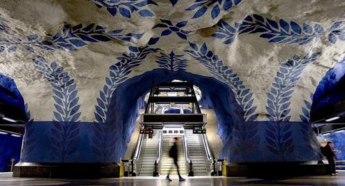 アート: まるで美術館!スウェーデンの地下鉄がすごすぎる