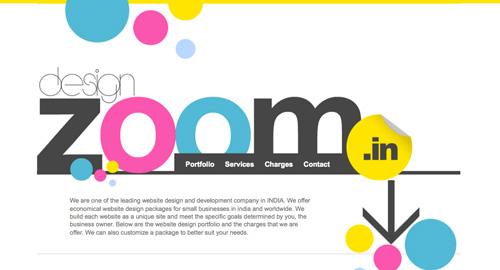 Webデザイン: 大きな見出しとカラフルな色彩が特徴のWebサイト