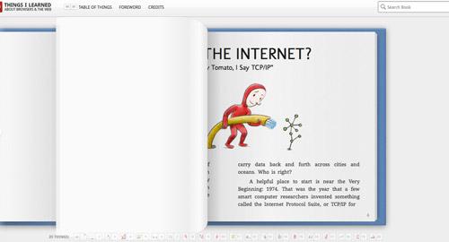 HTML5で作られた絵本風ページ