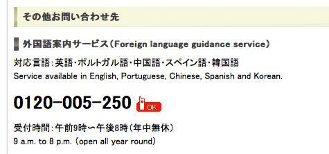 外国語での電話サポート