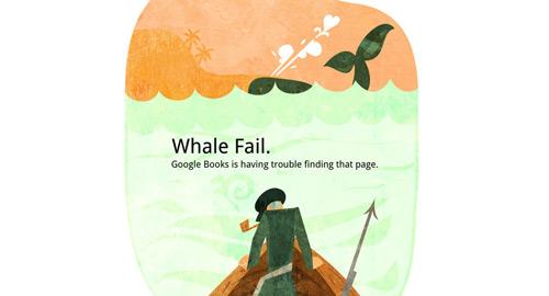 鯨がついにエラーページの標準シンボル