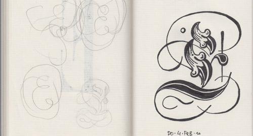毎日一文字ずつ、フォントのデザインをしていった人のノート