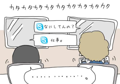 Skypeで会話
