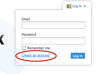 Dropboxの無料アカウントを作る