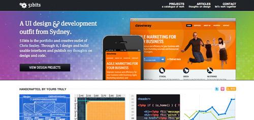 デザイン制作会社のWebサイト