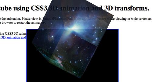 CSS3を使った3D立方体