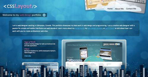 女性Webデザイナー・イラストレーターのポートフォリオWebサイト