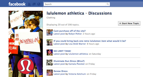 lululemon facebook