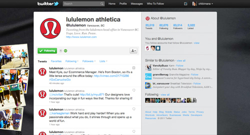 lululemon twitter