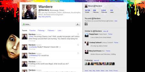 Twitterの背景画像