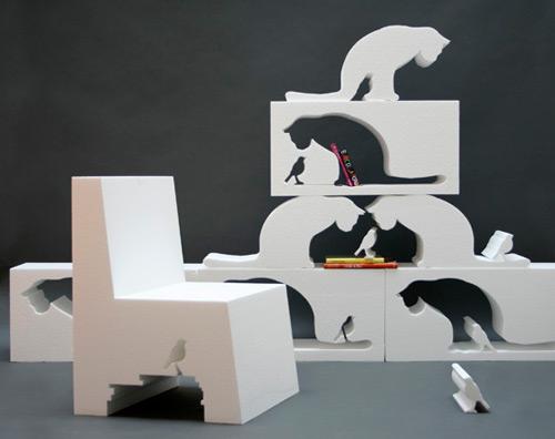 クリエイティブな家具のデザイン