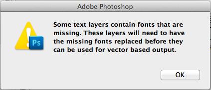 フォントファイルが見つからない