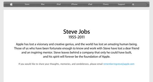 スティーブ・ジョブズ氏死去
